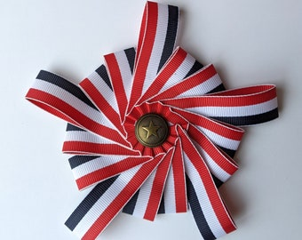 Star Cockade Red White Blue - Independance Day - Colonial America
