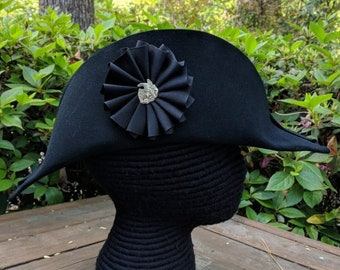 1812 Eagle Black Cockade on Laced Bicorne Hat - Colonial  America