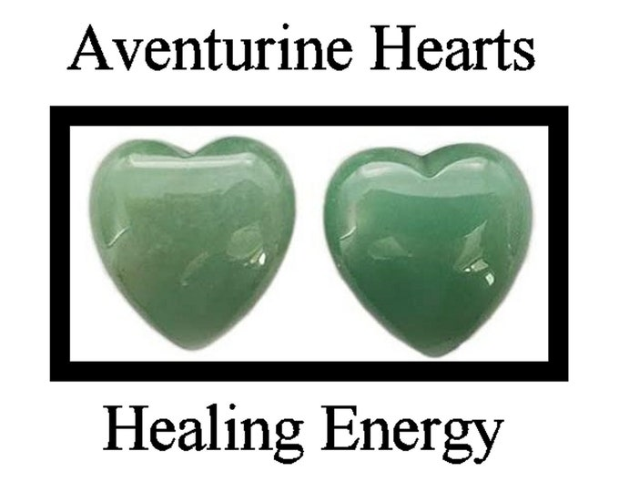 2 Green Aventurine Hearts - DIY Healing Energy - Love Yourself Chakra!