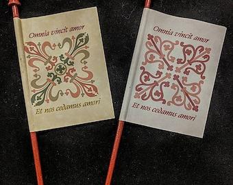 Virgil's Parchment Paper Venetian Flag Fan - Italian Ren