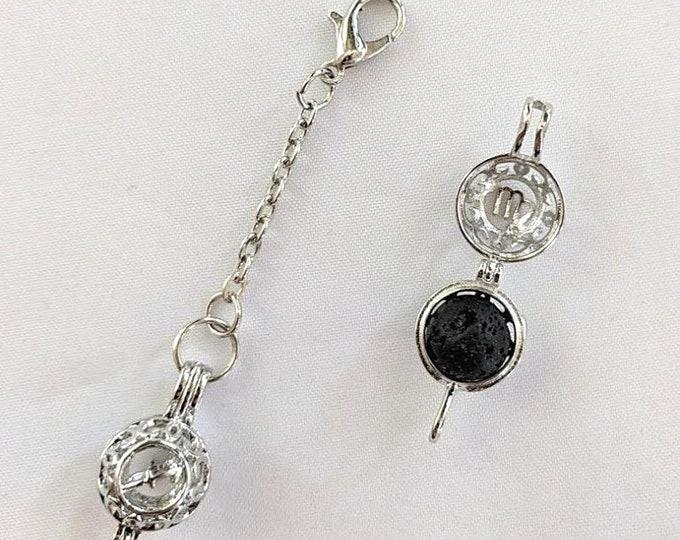Zodiac Pomander - Aromatherapy Pendant - Prayer Box - Astrology Zipper Pull