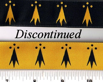 Erminois - Pean - Gold & Black Ribbon - SCA Heraldry Trim