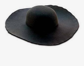 HUGE HAT SALE Wool Felt Blanks - Black - Ren Faire - Cavalier - Pirate
