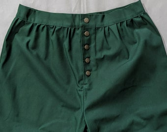 In Stock Medium Green SCA Fencing Venetians -  Button Fly Pants - Gipsy Peddler Rapier Armor