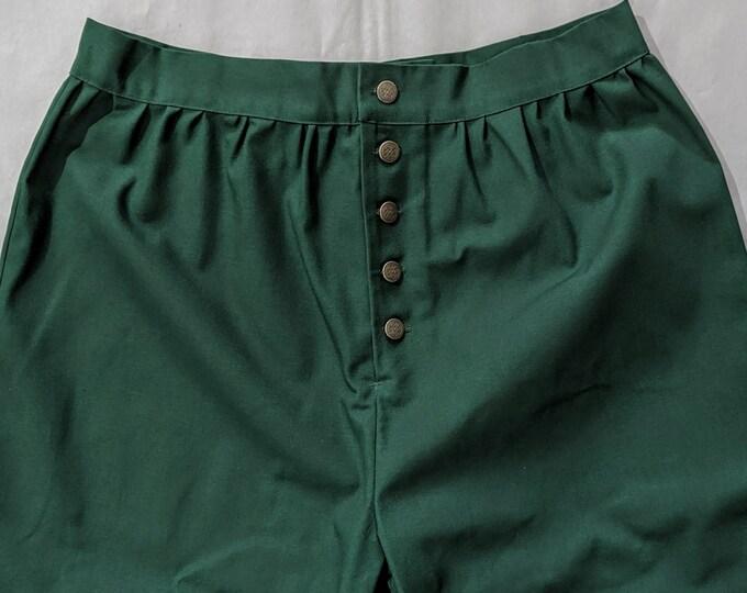 In Stock Size M - Dk Green SCA Fencing Venetians - Pants - Gipsy Peddler Rapier Armor