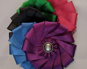 Heraldic Folded Cockade - SCA Heraldry - Metal and Color Rosette