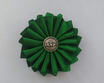 Celtic Cockade for Tricorn or Bicorne - Society of United Irishmen - Claddagh - Pleated