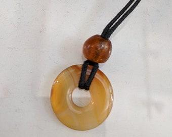 Carnelian Pendant Necklace - Semi-Precious Stone