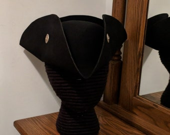 Claddagh Buttoned Tricorn - Cocked Tricorne  - Pirate Hat - Irish 18th c.