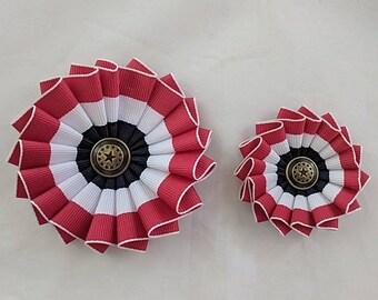 Two American Patriotic Cockades - Tricolor Red White Blue - Multi-Star