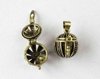 Aromatherapy pendant etsy round pomanders prayer box rosary accessories 2 aromatherapy pendants aloadofball Gallery