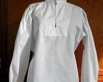 New Stock! Fencing Shirt w Button Collar and Cuffs - SCA Rapier Armor