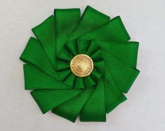 Irish Folded Cockade - Erin Go Braugh - Society of United Irishmen - Ireland