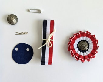DIY Kit & PDF - Small Pleated Cockade Tutorial and Supply Kit - Cockade Pattern
