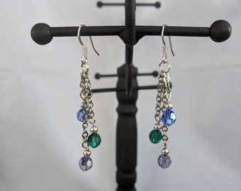 Mother's Day Crystal Birthstone Earrings - Happy Birthday