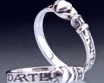 Spanish Heart Sterling Silver Poesy Ring - Ulster Museum in Belfast