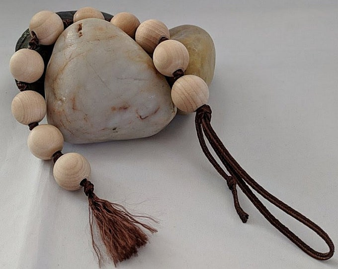 Wooden Prayer Beads - Tenner Chaplet -  Wood Paternoster