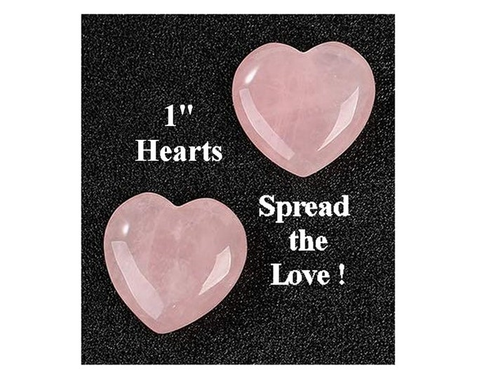 DIY Spread The Love - 2 Rose Quartz Hearts - 4th Chakra Healing Energy