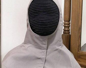 Undermask Fencing Hood Gipsy Peddler SCA Rapier Armor Arming Cap