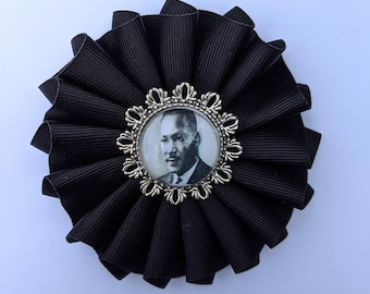 Black Mourning Cockade - Martin Luther King Jr - for Hat or Clothing