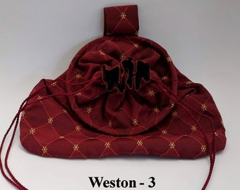 Weston Drawstring Hoop Belt Pouch - Game Bag Renaissance - Victorian