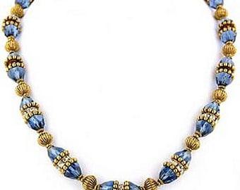 Greek Sapphire Necklace - Elizabethan Renaissance - Victorian