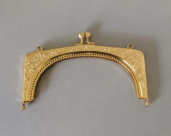Ornate Scroll Metal Purse Frame - Renaissance Handbag - Victorian