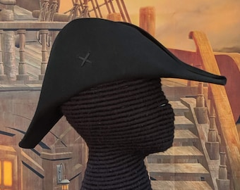 Plain Bicorne- American Cocked Hat - War of 1812 - Napoleon - Fore and Aft