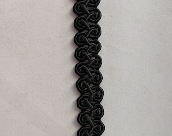 Black English Gimp Trim -  Renaissance - Victorian - Conso - USA Made