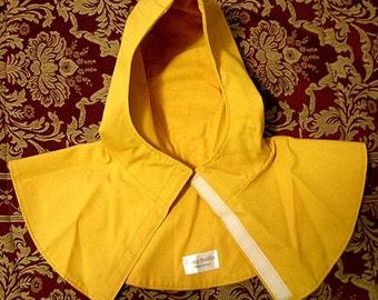 Gold Gray or Brown Red SCA Rapier Armor - Undermask Fencing Hood