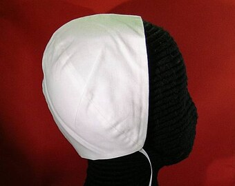 Black or White Cotton Coif  - Renaissance Biggins - England - Italy