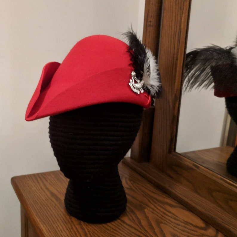 1ef2b262e08 Cocky Red Bycocket Gothic Felt Hunter s Cap SCA