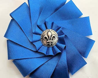 French Cockade - Blue or White Rosette - French Pre-Revolution Ribbons