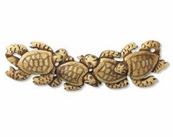Turtle Focal Piece - Hand Carved Bone