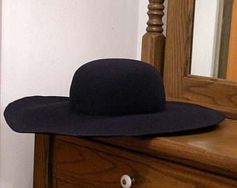 DIY Wool Felt Hat Blank - Black - SCA - Ren Faire - Cavalier - Pirate
