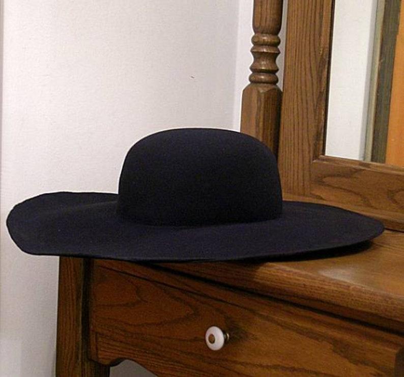 DIY Wool Felt Hat Blank  Black  SCA  Ren Faire  Cavalier  image 0