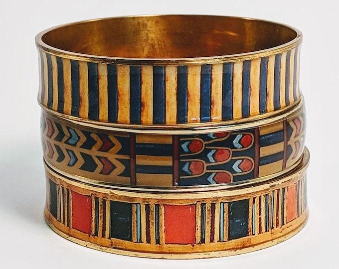 Set of 3 King Tut Bangles - Egyptian Pharoah 18th Dynasty