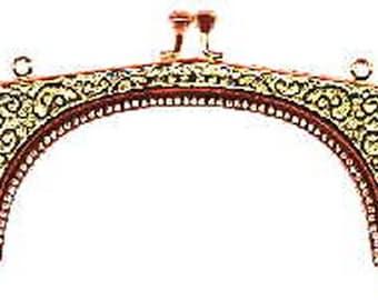 SALE Ornate Scroll Metal Purse Frame - Renaissance Handbag - Victorian