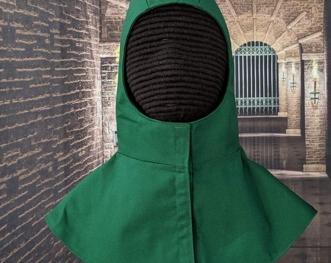 In Stock! 8 Stock Colors - Undermask Fencing Hood - SCA Rapier Armor Coif