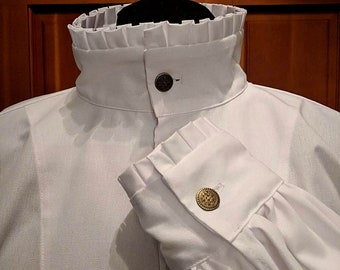 In Stock! Rapier Shirt - Box Pleated Ruffle - Gipsy Peddler SCA Fencing Armor