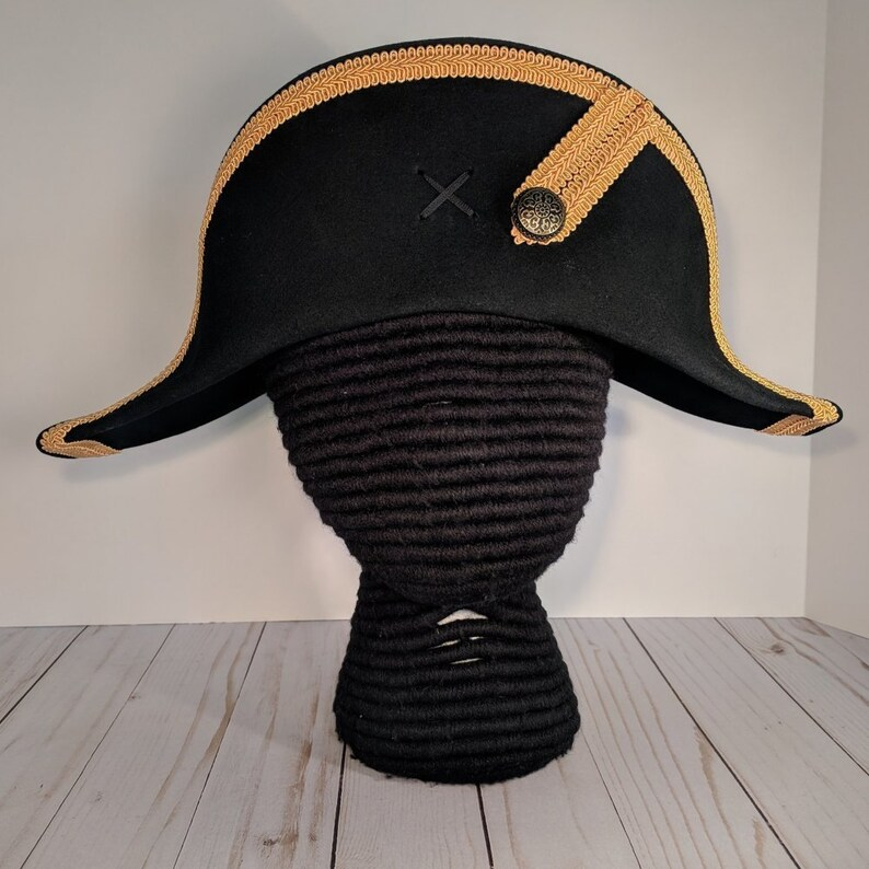 Bicorne with Gold Trim American Cocked Hat War of 1812  840e3c9602a