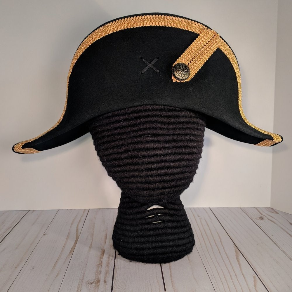 f9e203d5903 Bicorne with Gold Trim - American Cocked Hat - War of 1812 - Napoleon