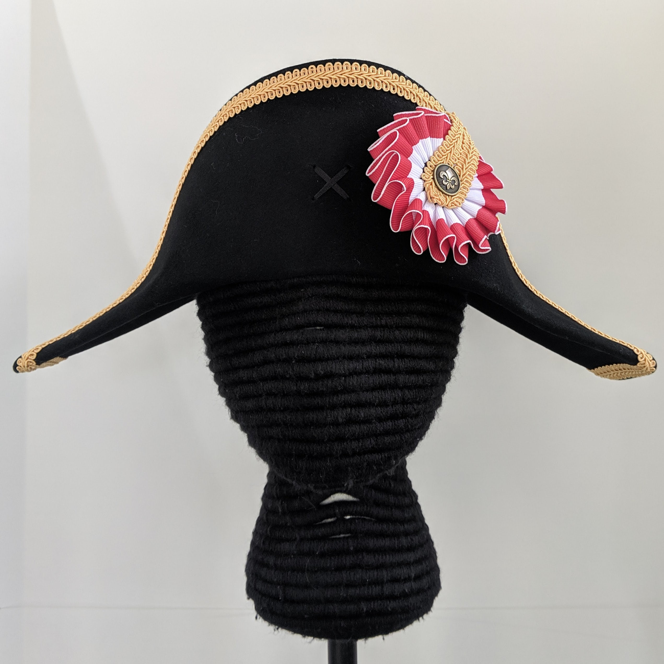 7f5ad46cd Napoleon Bicorne with Gold Trim - American Cocked Hat - Red White ...