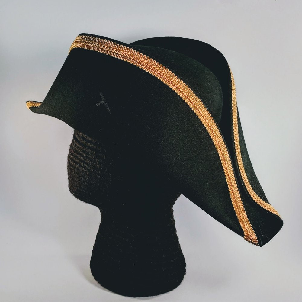 d5593d38f18 Bicorne with Gold Trim - American Cocked Hat - War of 1812 - Napoleon