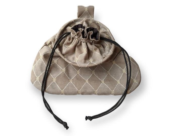 In Stock! Gray Weston Drawstring Belt Pouch - Game Bag Renaissance