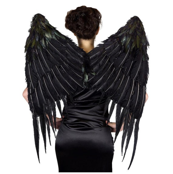 Large Black Gothic Wings - Angel of Darkness - Dar