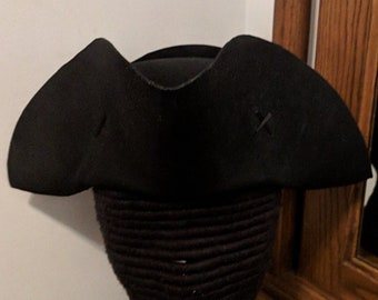 Yorktown Military  Tricorn - American Revolutionary Felt Hat