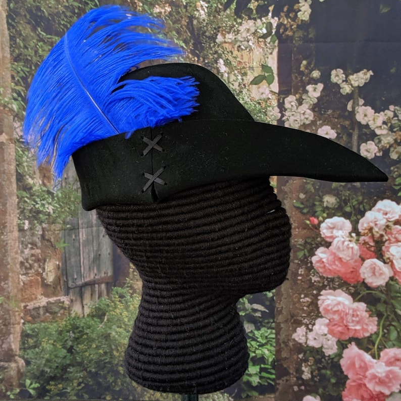 Felt Bycocket  Laced Gothic Hat  Hunter's Cap  SCA image 0