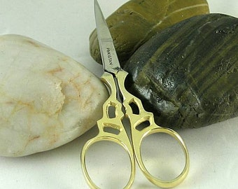 Embroidery Scissors - Gold Handles - Stainless Steel Blades