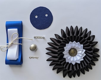 DIY Kit & PDF - Double Combination Cockade Tutorial and Supply Kit - Cockade Pattern